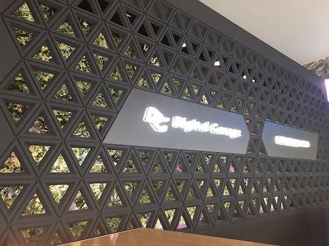 オフィスのエントランスに壁面緑化 株式会社アド・ジャパン様