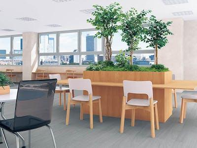 【ワークスペースのコーディネート例】オフィスグリーンにおすすめ!観葉植物でストレス緩和!