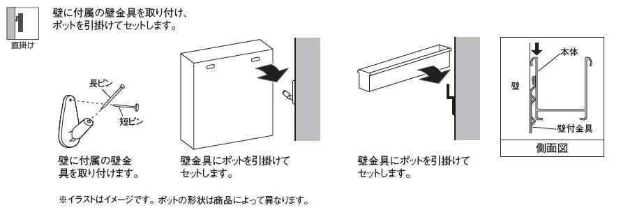フェイクグリーンの壁掛け方法