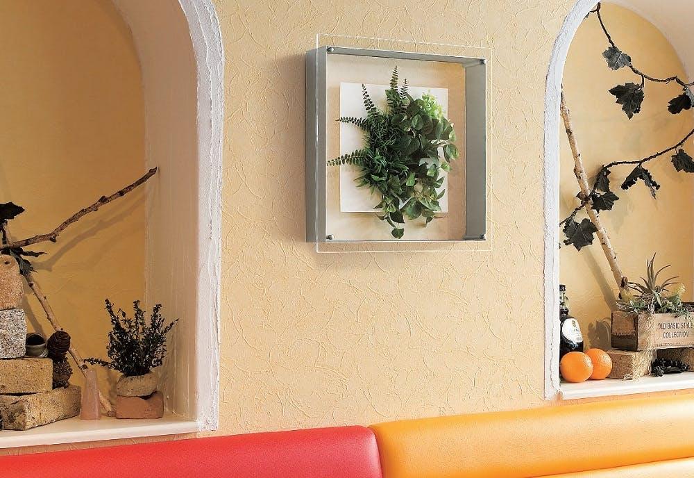 フェイクグリーン 壁掛け 絵画のように飾れるアートパネル