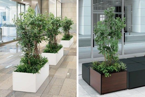 人工樹木 寄せ植えプランター
