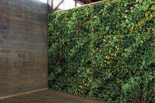 壁面緑化 グリーンパネル 連接 敷き詰め 空間演出